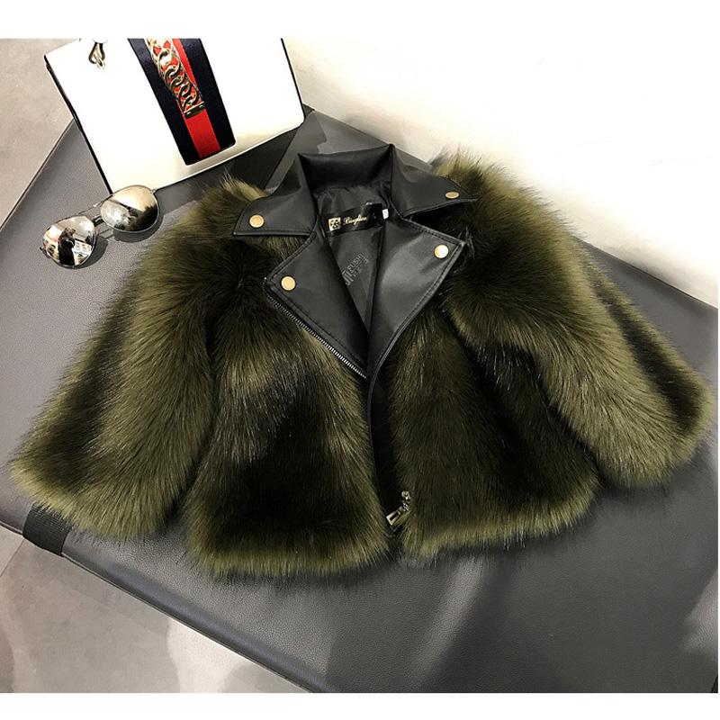 Baby Girl Boy Fur Coat Jacket High Quality Leathe Imitation Fox Artificial Fur Grass 2019 Winter Warm Kids Clothes LZ607