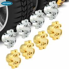 Aqtqaqq – capuchons de tige de Valve de pneu de voiture en aluminium, 4 pièces, couvercle anti-poussière d'air, pour camion, vélo, nouvelle collection