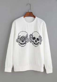 Women Harajuku Short Sleeve White Print Letter Chemise Femme Blusas Female Fashion Tee Casual Lady Shirts Skull Print T-shirt letter print stepped hem tee