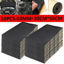 10Pcs 5-10MM Car Sound Proof Deadening Upgarded Car Truck Anti-noise Sound Insulation Cotton Heat Closed Cell Foam 30x50cm