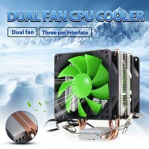 Ventilador do refrigerador do computador hidráulico duplo heatpipe cpu ventiladores de refrigeração dissipador de calor para intel lga775/1156/1155 amd para am4 ryzen para pentium