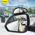 Baseus 1 пара, Автомобильное зеркало заднего вида, высокое разрешение, большой вид, Выпуклое стекло, широкий угол, вспомогательное зеркало заднего вида - фото