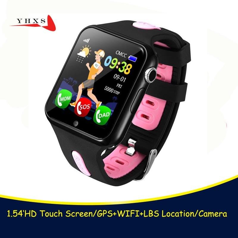 Remoto câmera hd inteligente seguro gps lbs rastreador localização localizador sos chamada anti-perdido monitor v5k relógio de pulso para crianças estudante
