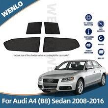 Магнитные Оконные Занавески для audi a4 b8 Седан 2008 2016 автомобильные