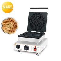 Edelstahl Waffeleisen Maschine Eisen Pan Elektrische 220V 110V Nicht-stick Belgain Waffel Maschine in Küche ausrüstung