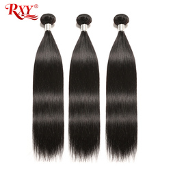 RXY ريمي حزم من شعر مفرود 3 قطعة مجموعة ضفيرة شعر برازيلي حزم 100% حزم الشعر البشري لحمة مزدوجة ينسج