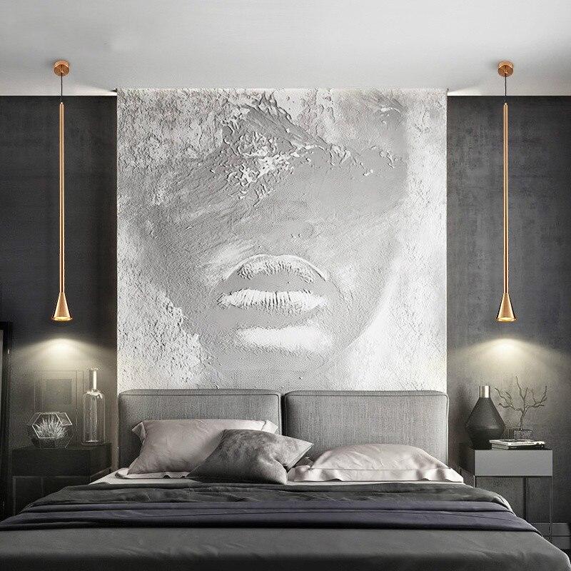 Nordic Minimalist Iron Art Retro Lamp Restaurant Living Room Lights Hanging Bedside Bedroom Lamp Home Decor Lighting Fixtures