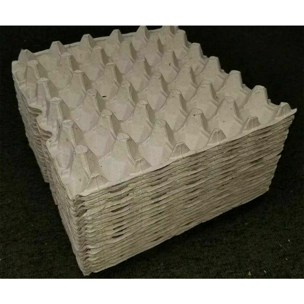 30 Hole Paper Flats Egg Trays Chicken Egg Cartons  Hatching Craft Poultry Egg Tray Turnover Crate