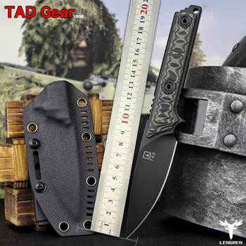 LENGREN EDC A2 steel G10 handle outdoor knife 7.5MM Thick hunting outdoor camping tactical fruit knives fixed blade