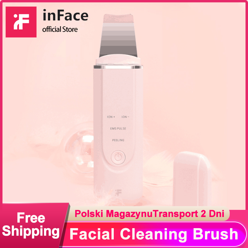 InFace Ultrasonic Ion Cleansing Blackhead Massage Skin Scrubber Peeling Shovel Facial Pore Cleaner Machine Xiaomi Supply Chain