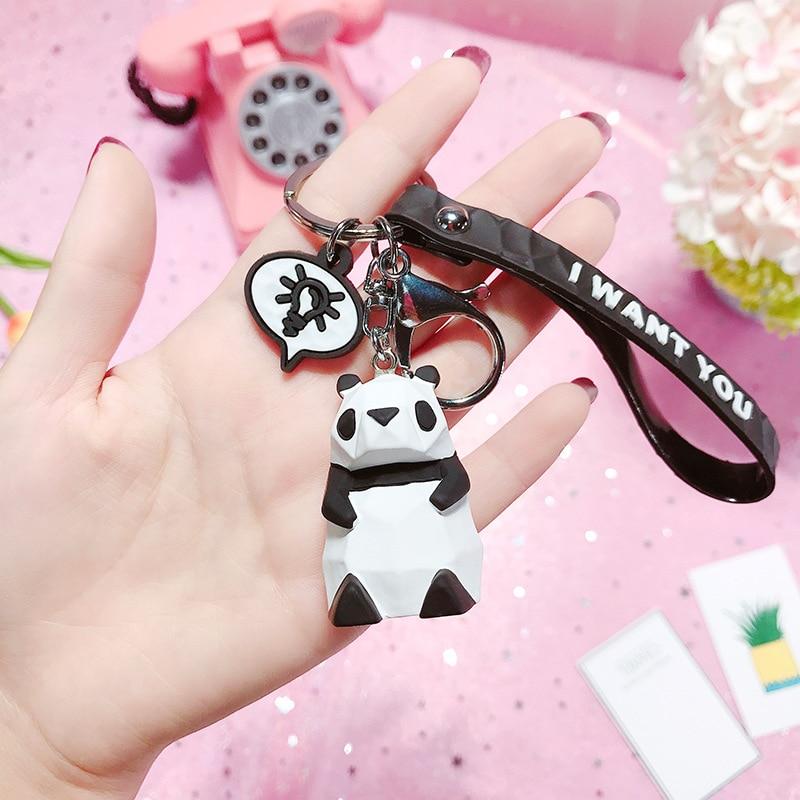 2019 New Fashion Cute Dinosaur Keychain Key Ring Fashion Cartoon PU Key Chain Creative Car Bag Phone Key Ring (17)