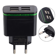USB Quick Charge Adapter 4 Ports USB Wall Charger Adapter 110-220V 5V 4A Power Plug Travel Adapter EU Plug For Cell phones iPad стоимость