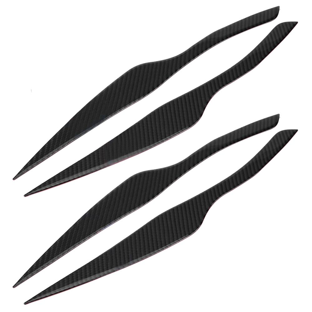 Pair Carbon Fiber Headlight Eyebrow Eyelid Cover For BMW 3 Series E90 E91 2006 2007 2008 2009 2010 2011 Accessories Car Styling