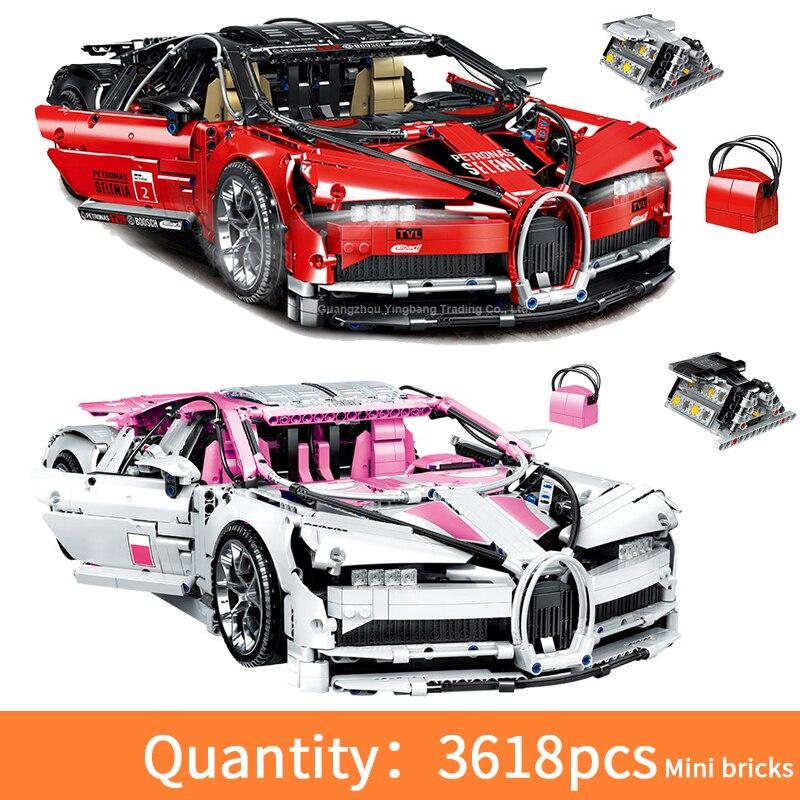 1:10 bugattied carro de corrida 1.9kg montar cidade técnica blocos de construção simulação modelo mini tijolos brinquedos educativos para crianças