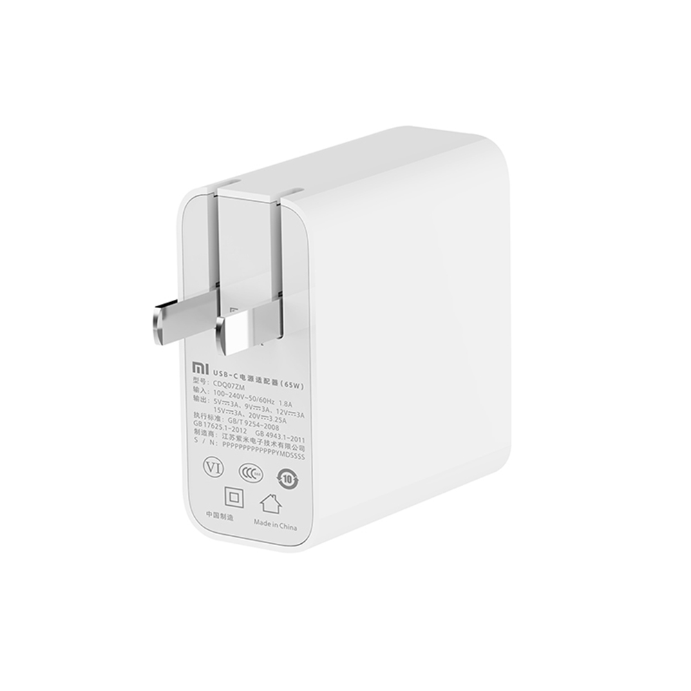 Image 2 - Xiaomi USB C Charger 65W Power Adapter With US Plug Mini Portable  Wall Travel Charger 100 240V For Phone Laptop NotebookMobile Phone  Chargers