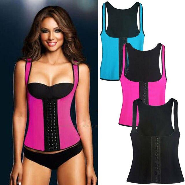 2020 Women Sweat Sauna Neoprene Back Support Slimming Waist Trainer Slim Belt Gym Soft Breathable Zipper Underwear Shaper Tops