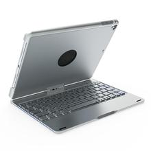 F180 I pad  Keyboard With Case , 7 Colors Adjustment Backlit and Breathing Light with 360 Degree Rotatable Cover