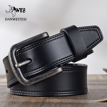 [DWTS]Leather belt men  genuine leather belt male strap luxury pin buckle belts casual men belts vintage jeans high quality