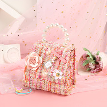 Korean Kids Mini Purse 2021 New Flower Crossbody Bags for Baby Girl Small Coin Wallet Pouch Box Girls Party Purse Hand Bag