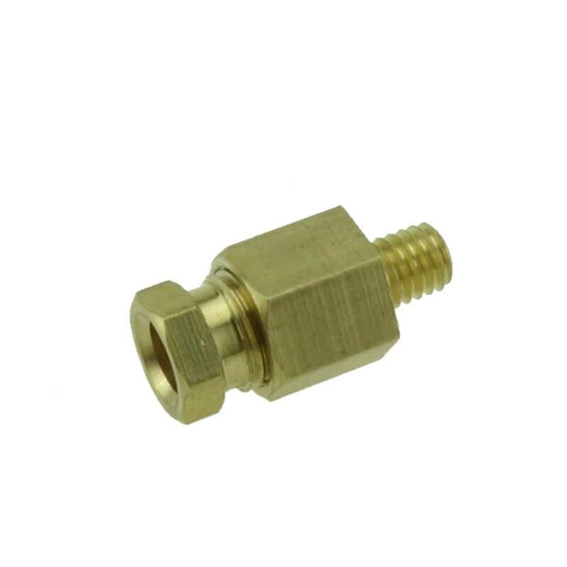 4 6 mm OD Tube laiton Compression virole Tube Compression raccord mâle connecteur Machine-outil lubrification tuyau d'huile raccord