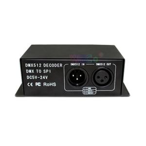 Image 3 - Dc 5 v 〜 24 v フルカラーの dmx 512 デコーダ led ストリップ調光器 dmx spi led モジュールコントローラサポート WS2811 WS2812 WS2801 6803 ic
