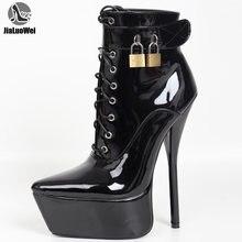 Ботильоны женские на очень высоком каблуке пикантные ботинки
