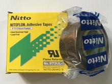 High temperature resistant adhesive 5pcs T0.13mm*W25mm*L10m Japan NITTO DENKO Tape NITOFLON Waterproof Electrical tape 973UL недорого