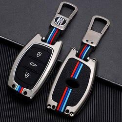 Zinc Alloy Car KEY CASE COVER FOR HYUNDAI TUCSON IX35 SOLARIS I25 I30 MISTRA ACCENT Car Key Bag Smart Key Car Styling key holder