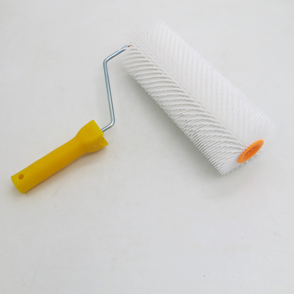 9 Inch Epoxy Spiked Roller Over Liquid Floor Leveling Compound For House Renovation Spiked Roller
