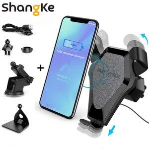 Image 1 - Chargeur sans fil de voiture 3 en 1 support de téléphone de voiture sans fil support de Charge sans fil pour iphone X 8 XS XR Samsung