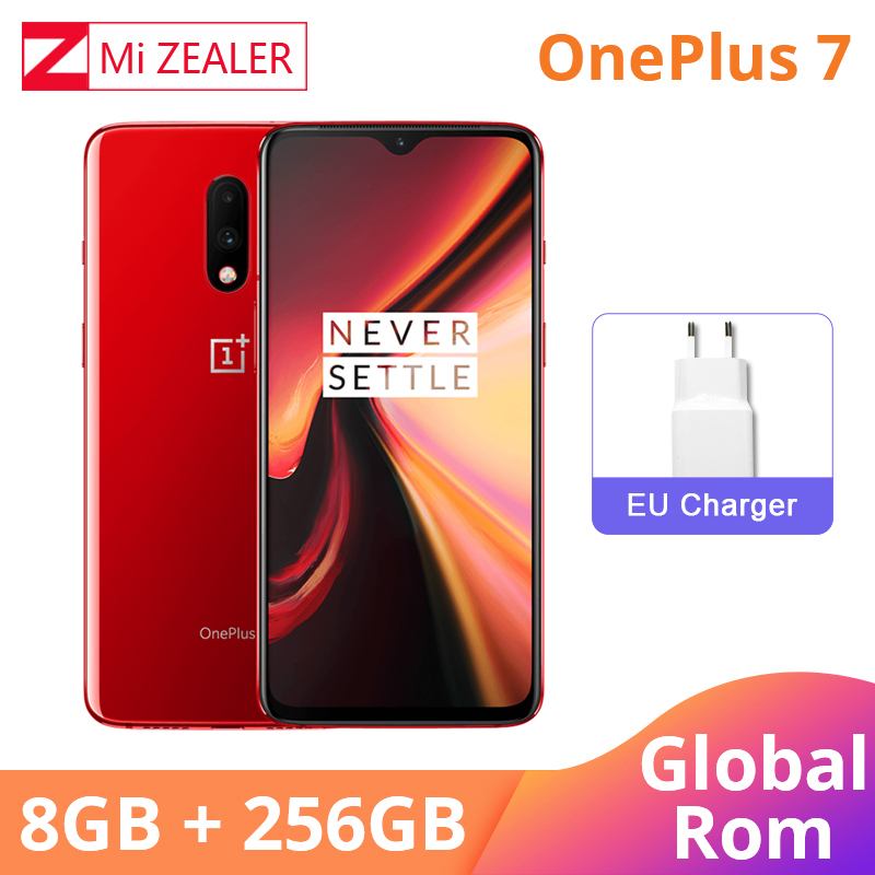 Global Rom OnePlus 7 8GB RAM 256GB ROM Smartphone Snapdragon 855 6.41 Inch Dush Fast Charge Fingerprint 48MP Cameras UFS 3.0