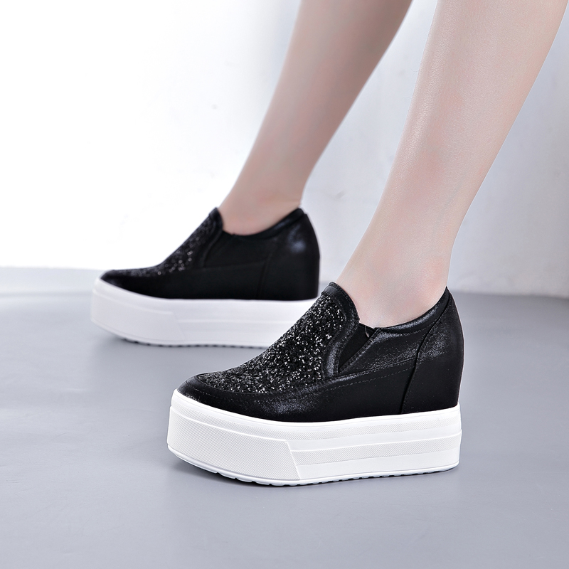 9CM Wedge Sneakers with Sequins Chunky