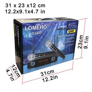 Image 5 - LO U02 Easy to use Professional 2 Handheld UHF Frequencies Dynamic Capsule 2 Channel Wireless Microphone for Karaoke System
