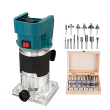 18V Cordless Electric Trimmer Wood hand trimmer Engraving Slotting Trimming Carving Machine Router Wood for Makita 18V battery