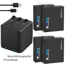 Insta360 ONE X batería de 3,8 V y 1400mAh, Micro USB cargador de batería, compatible con lectura y escritura de tarjetas TF al mismo tiempo