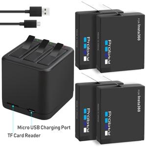 Image 1 - Insta360 ONE X batería de 3,8 V y 1400mAh, Micro USB cargador de batería, compatible con lectura y escritura de tarjetas TF al mismo tiempo