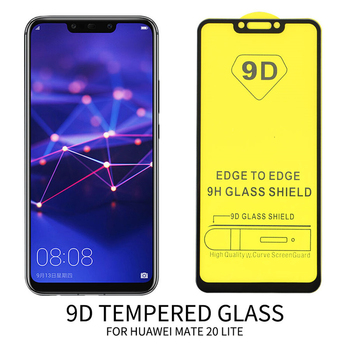 100Pcs Curved 9D Tempered Glass For Huawei P Smart Z P Smart Plus 2019 Mate 30 20 Lite 10 Pro Full Cover Screen Protective Film