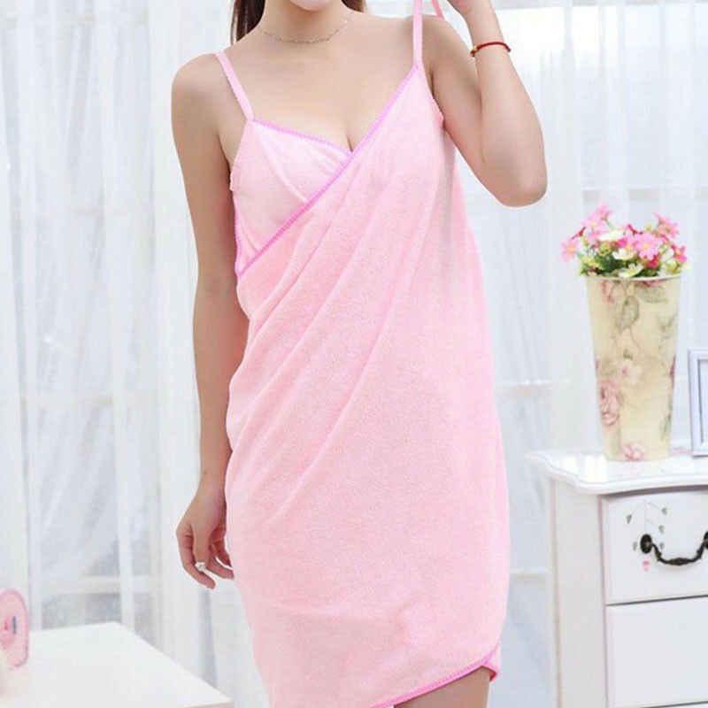 Năm 2019 Nhà Dệt Khăn Nữ Tắm Áo Dây Đeo Khăn Nữ Dáng Nhanh Khô Bãi Biển Spa Ma Thuật Váy Ngủ Đầm Ngủ
