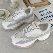 Platform Shoes Black Sneakers Women 2020 Fashion Chunky Beige Trainers Breathable Sneakers Gray Woman Vulcanize Shoes habuckn 2020 new white leisure sneakers women shoes chunky sneakers platform vulcanize shoes woman breathable mesh sequins