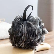 Мягкий душ сетка пена губка отшелушивающий скрабер черный ванна пузырь мяч тело кожа очиститель очиститель инструмент ванная аксессуары
