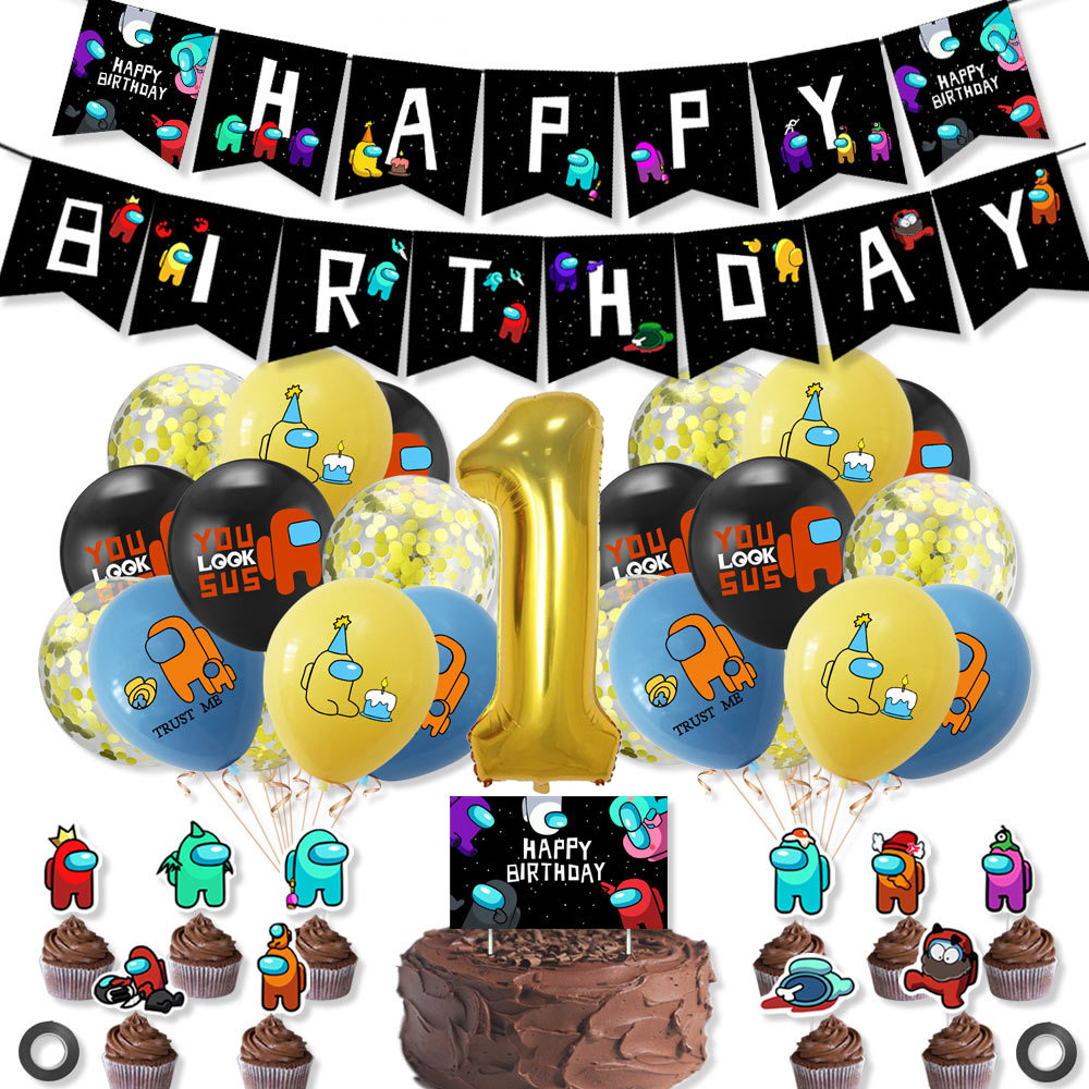 Among us Birthday Party Latex Balloons Boy Birthday Party Decoration Baby Shower Balloons Globos for kids Party Favor Supplies