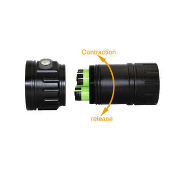 LED Diving Flashlight Underwater 100M xml2 Blue White Red light Photography Video Camera Tactical Scuba Video Dive Lamp