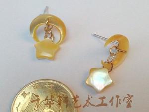 Image 4 - Cartoon Sailor Moon Handmade Shiny Saturn Black Lady 925 Silver Earring Ear Stud Cosplay Props Gift