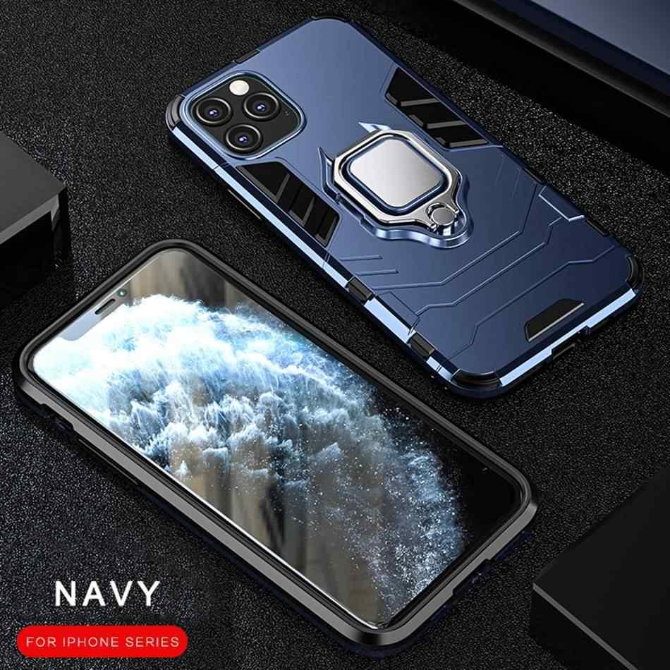 360 טלפון מקרה עבור iphone 11 פרו XS מקסימום מקרה סיליקון מגנטי רכב מחזיק כיסוי עבור iphone 7 6 S 6 S 8 בתוספת X XR מקרה Coque Funda