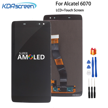 For Alcatel vodafone idol 4S OT6070 6070k 6070y 6070 LCD Display Touch Screen Digitizer Full Assembly OT 6070 LCD With Frame