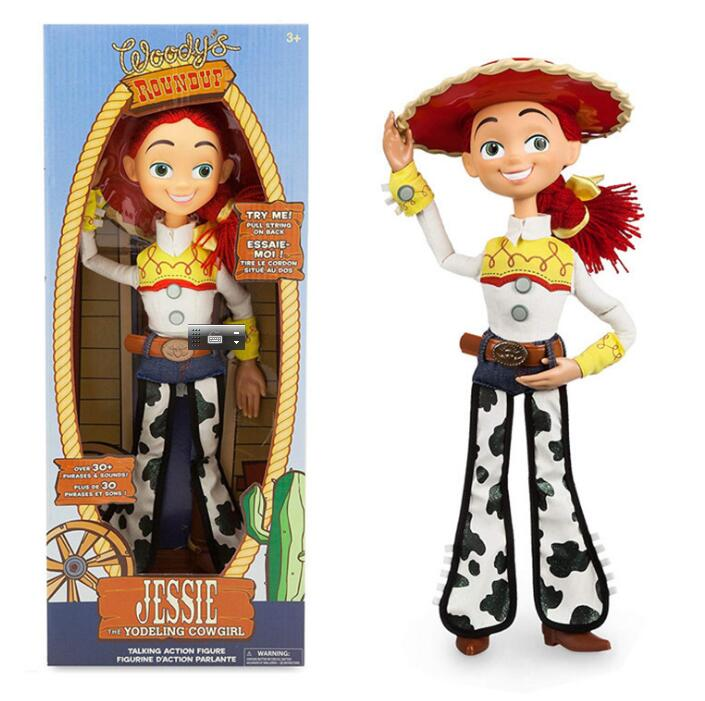 43cm Toy Story 3 Talking Woody Jessie PVC Action Toy Figures Model Toys Children Birthday Gift Collectible Doll