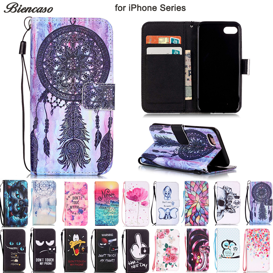 Lovely Butterfly Owl Wallet Flip Case For iPhone 11 Pro Max XR X XS 8 7 6 6S Plus Protective Shell Cover For iPod Touch 5 6 7