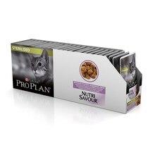 Pro Plan Nutrisavour Sterilised пауч для стерилизованных кошек и котов с индейкой(кусочки в желе, 24*85 г