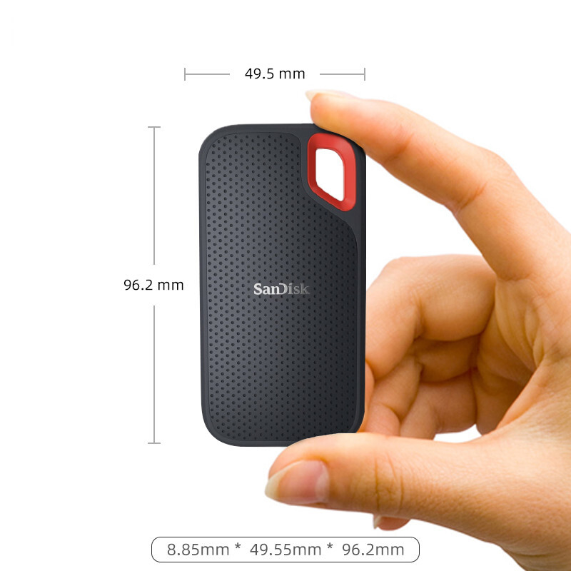 SanDisk SSD USB 3.1 Type C 1TB 2TB 250GB 500GB External Solid State Disk 500M/S external