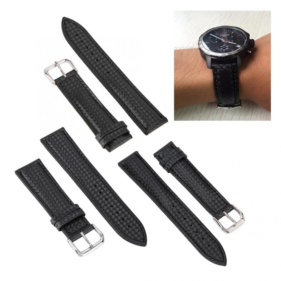 Watch Band Universal Sweat-Resistant Watchband Strap Replacement Watches Band Watch Accessories Carbon Fiber Skin Watch Strap